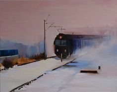"Saatchi Online Artist Marta Zamarska; Painting, ""A Railway Impression XXV"" #art"