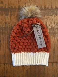 Excited to share the latest addition to my #etsy shop: Pumpkin Spice Fur Pom Pom Winter Hat #accessories #hat #christmas #fauxfurpompom #christmasgift #winterhatwomen #slouchybeanie
