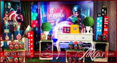 Avengers Birthday Party, Woow! Make your baby's specail day into a super heros era at your desire place. Best Birthday party celebration in ideas Pakistan and the most heroic ever with Avengers party theme ideas from the Tulips Creatve Team in Pakistan.