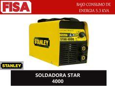 SOLDADORA STAR 4000- Bajo consumo de energia 5.3 KVA. FERRETERIA INDUSTRIAL -FISA S.A.S Carrera 25 # 17 - 64 Teléfono: 201 05 55 www.fisa.com.co/ Twitter:@FISA_Colombia Facebook: Ferreteria Industrial FISA Colombia
