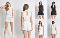 cd9946bd2c57 STYLE High neck romper with skort and open back detail