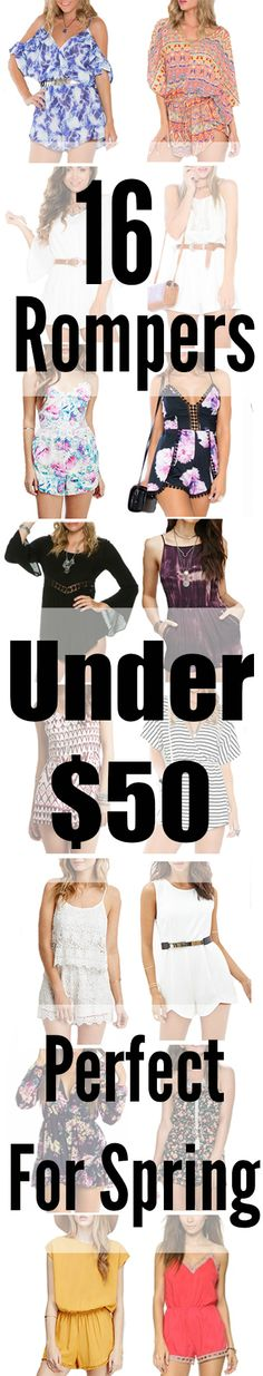 Who else is obsessed with rompers?! Here are 16 of my favourites all under $50!