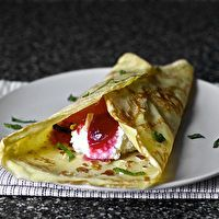 Sugar Plum Crepes with Ricotta and Honey by Smitten Kitchen