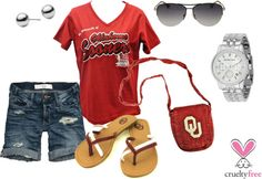 """""""Boomer Sooner OU Gameday (early season)"""" by pbmhuck on Polyvore"""