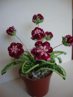 Оригинальные цветы из пайеток, бисера и бусин. Мастер класс с пошаговыми фото / Бисероплетение / Бисероплетение цветов