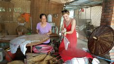 Learn about cooking the rice papers with local people in south Vietnam. www.vietnamrider.com #vietnamrider-travel #adventure #motorbike #tours #numberone #invietnam #instagram #instagood #likeforlike #nam