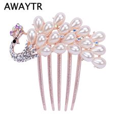 US $2.57     Buy Jewelry At Wholesale Prices!     FREE Shipping Worldwide     Buy one here---> http://jewelry-steals.com/products/awaytr-sunflowers-crystal-rhinestone-hair-clip-queen-crown-headband-peacock-hairpin-for-ladies-hair-accessories-headwear/    #shopping