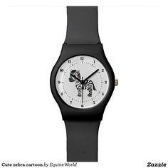 Cute zebra cartoon watch