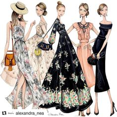 It's been a huge month of events & Raceday illustrating, I've had such fun dressing up, taking the bump out & about but now it's time to… Fashion Design Sketchbook, Fashion Design Drawings, Fashion Sketches, Moda Fashion, Fashion Art, Vintage Fashion, Fashion Poses, Fashion Outfits, Fashion Illustration Dresses
