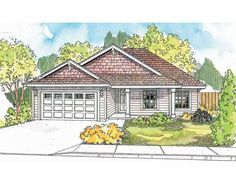 Country House Plan with 1406 Square Feet and 3 Bedrooms(s) from Dream Home Source | House Plan Code DHSW52082