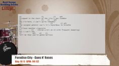Paradise City - Guns N' Roses Drums Backing Track with chords and lyrics