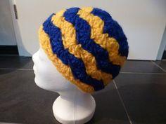 Mützen - myboshi-Mütze ~Handarbeit~ Welle - Gelb/Blau - ein Designerstück von LeseElfe bei DaWanda