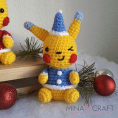 pikachu navideño amigurumi patrón gratis  #amigurumi #pikachu #patrones