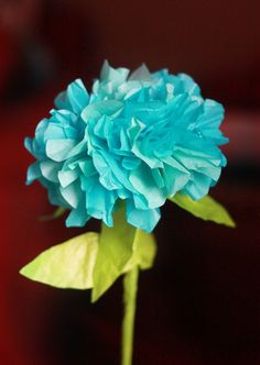 DIY Paper Hydrangea LOVE@Peaches! Such awesome paper crafts. I have a ton of coloured coffee filters left. I bet I could make those work for this, too