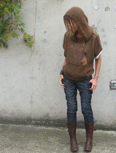 Suéter con capucha de iLE AiYE por ileaiye en Etsy