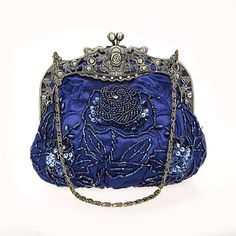 Gris Violet, Violet Rouge, Beaded Purses, Beaded Bags, Beaded Clutch, Vintage Purses, Vintage Handbags, Blue Handbags, Vintage Clutch