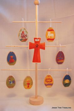 Holy Week Easter Ornaments WITH TREE by JesseTreeTreasures on Etsy