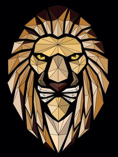 Abstract lion vector art