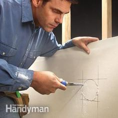 How to Cut Drywall for an Opening | The Family Handyman