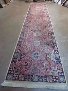 2 6 X 12 Karastan Williamsburg 557 Kerman Vase American Wool Rug
