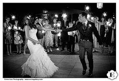 First dance sparklers - festive!