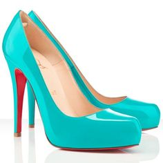 Cheap Christian Louboutin Rolando 120mm Patent Leather Pumps Turquoise