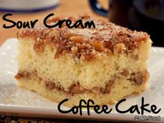 Coffee cake never goes out of style. Our easy recipe for Sour Cream Coffee Cake that's sprinkled with plenty of cinnamon is the perfect excuse to eat cake for breakfast or really any time at all.