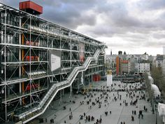 Centre Georges Pompidou in Paris by Renzo Piano, Richard Rogers & others.