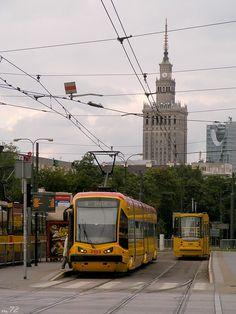 The Capital City of Warsaw, Poland - Photos  Uk Transport, Public Transport, Travel Around The World, Around The Worlds, Bonde, Warsaw Poland, Light Rail, Historical Monuments, Sao Paulo