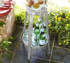 Galvanized Metal Floor-Standing Drink Dispenser Stand  $89.00