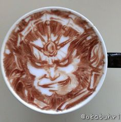 Ganondorf coffee art by @okabuhri !