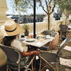 @sincerelyjules enjoying the summer sunshine on the @theprincipalmadrid rooftop terrace #theprincipal #madrid #sincerelyjules #summer #rooftop #rooftopbar #sunshine #luxury #luxuryhotel #travel #boutiquehotel #smallluxuryhotels photo credit: @sincerelyjules