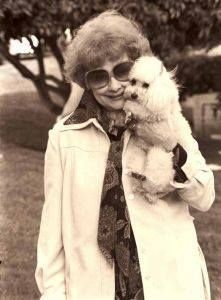 Lucille Ball with Poodle friend Tinkerbell our favorite red head from I Love Lucy.