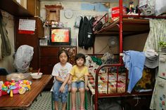 German photographer Michael Wolf photographs Hong Kong's oldest public housing complex Shek Kip Mei Estate Hong Kong, Michael Wolf, Wolf Photography, Brush Drawing, Student Room, Tiny Spaces, Chinese Style, Tiny House, Indoor