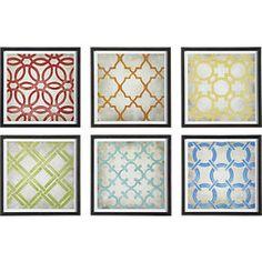 Classical Symmetry Print Set of Six