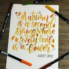 "546 Likes, 10 Comments - DawnT (@cre8tivesun) on Instagram: ""I just love this quote, and especially love the season! #fallforwatercolors @squinks_art…"""