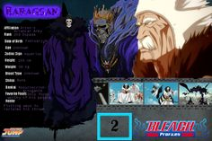 BLEACH, Characters profile, Arrancar 2nd Espada Baraggan Louisenbairn
