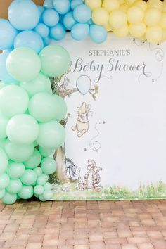Rustic Chic Classic Winnie the Pooh Party - Baby Shower Archives 2019 Baby Shower Decorations For Boys, Boy Baby Shower Themes, Baby Shower Fun, Baby Shower Gender Reveal, Baby Shower Parties, Babyshower Themes For Boys, Baby Showers, Winnie The Pooh Themes, Winnie The Pooh Birthday