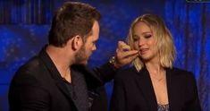 Chris Pratt Can't Stop Flirting With Jennifer Lawrence Poping Pimples, Chris Pratt Movies, Independent School, Jennifer Lawrence, Brad Pitt, Transgender, Flirting, Education, Children