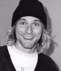 Kurt Cobain's beautiful smile.