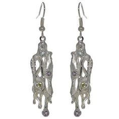 ATALANTA silver plated hook earrings by VIZ