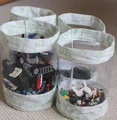 Sewing Fabric Storage Fabric Storage Bucket Tutorial for Toy Storage - Sewing tutorials for clothes, home decor, men, women and kids, tips and techniques Easy Sewing Projects, Sewing Projects For Beginners, Sewing Hacks, Sewing Tutorials, Sewing Crafts, Sewing Tips, Tutorial Sewing, Video Tutorials, Diy Toy Storage
