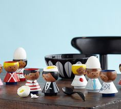 The egg holders 'Bordfolk' by Lucie Kaas - EGGCELLENT :)