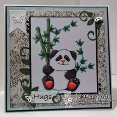 "High Hopes Stamps- Gentle Panda by Donna using ""Gentle Panda"" (T501)"