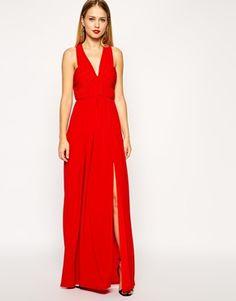ASOS Ruched Cross Strap Maxi Dress $85.28 (Asos)