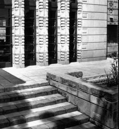 Exterior view of the Storer House, West Hollywood (previously Sherman), 1923 :: Library Exhibits Collection