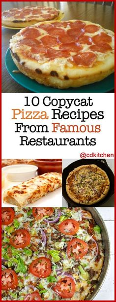 Pizza night is always a favorite, especially when you have great tasting pizza from some of the most popular restaurants. Pizza Recipes, Dinner Recipes, Cooking Recipes, Cat Recipes, Dinner Ideas, Sandwich Recipes, Pizza Restaurant, Restaurant Recipes, Copykat Recipes