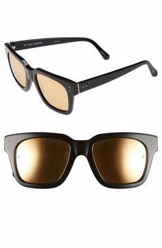e2ebe783b83 Linda Farrow  D-Frame  52mm Mirrored Lens Sunglasses Latest Sunglasses