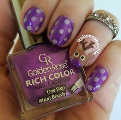 هذه #أظافر اليوم  Rudolph Nails with my own twist to it using Golden Rose-Rich Color #32