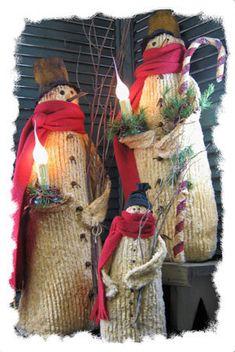 Wynter Joe and Joey - Primitive Snowman PATTERN - CF840